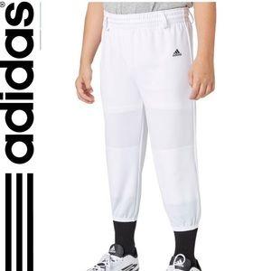 Adidas pull-up baseball pant youth uniform NWT